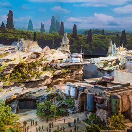 Portfolio Star Wars Land Rendering