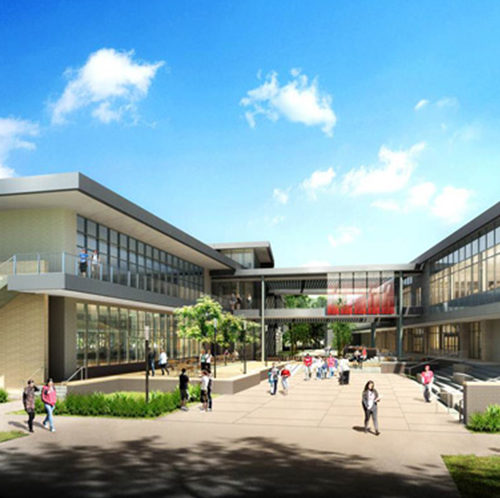 Portfolio University of Houston Exterior Rendering