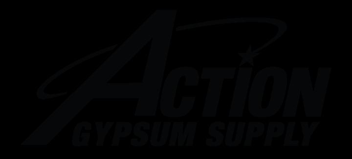 Action Gypsum Supply Logo Black Transparent Background