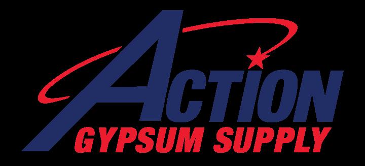 Action Gypsum Supply Logo Full Color Transparent Background
