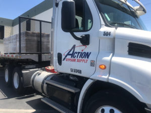 Action Gypsum Delivery Truck