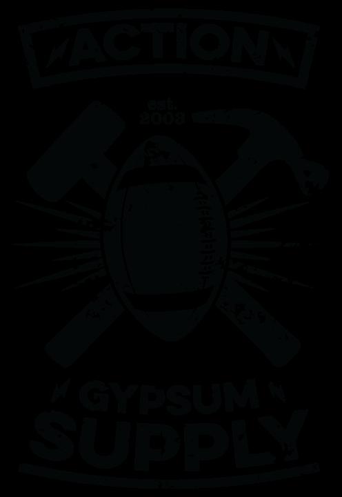Action Gypsum Supply Touchdown Graphic Black
